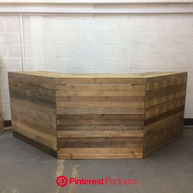 pallet bar, rustic wedding (With images) | Furniture hire, Dj booth, Pallet furniture