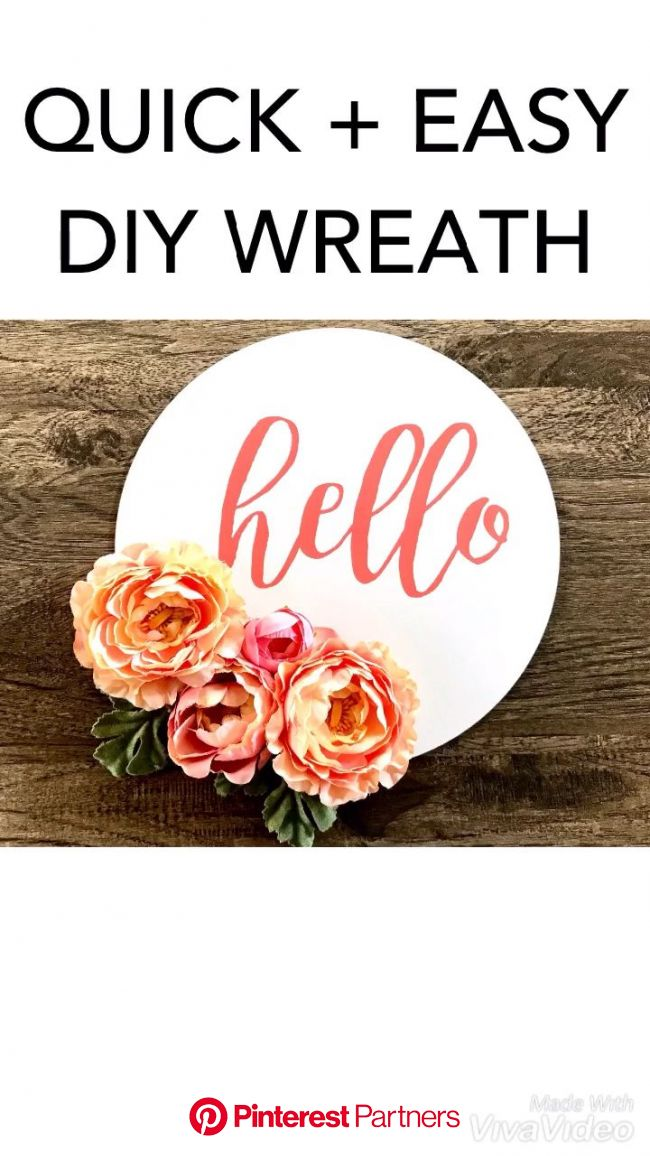 Quick & easy DIY wreath [Video] | Diy wreath, Easy diy wreaths, Easy diy
