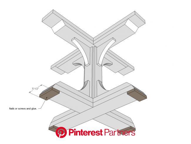 Square Pedestal Table Diy Furniture Plans Easy Diy Projects Pedestal Table Base Wood Decor 2019 2020