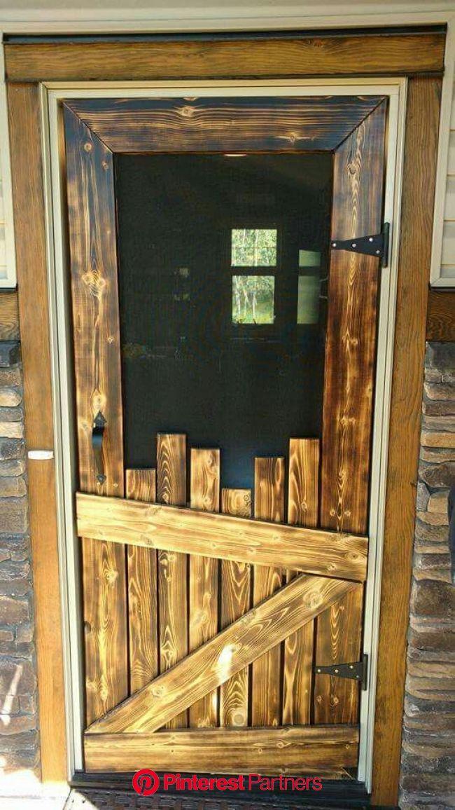 Over 60 of the BEST DIY Pallet Ideas | Barn wood decor, Diy screen door, Rustic house