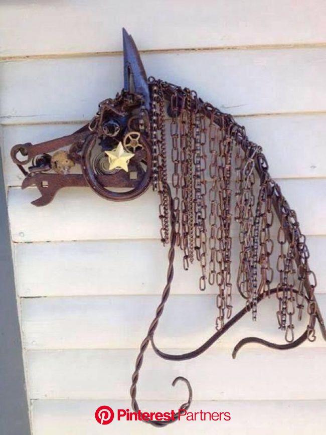 Madam Butterfly on Twitter | Scrap metal art, Horseshoe art, Metal tree wall art