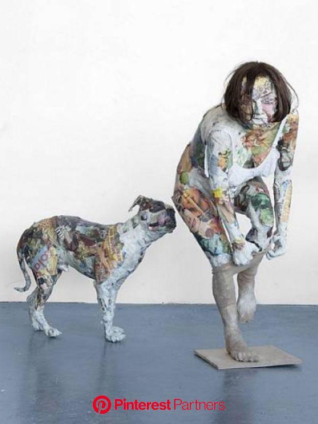 Will Kurtz' newspaper New Yorkers   Driftwood art sculpture, Paper art sculpture, Sculpture