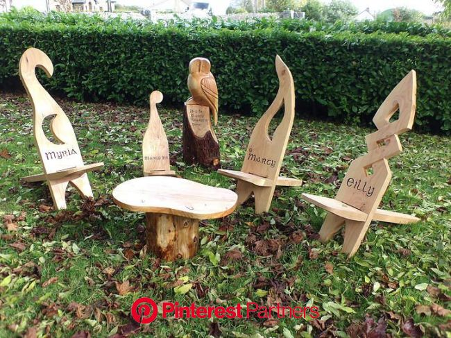 le cheile unique hand-made irish gifts | Wooden pattern, Rustic log furniture, Kids chairs