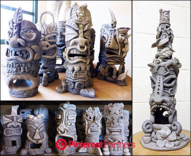 Tiki Sculpture Progress » Julia Sanderl | Middle school art projects, Art lessons middle school, Sculpture lessons