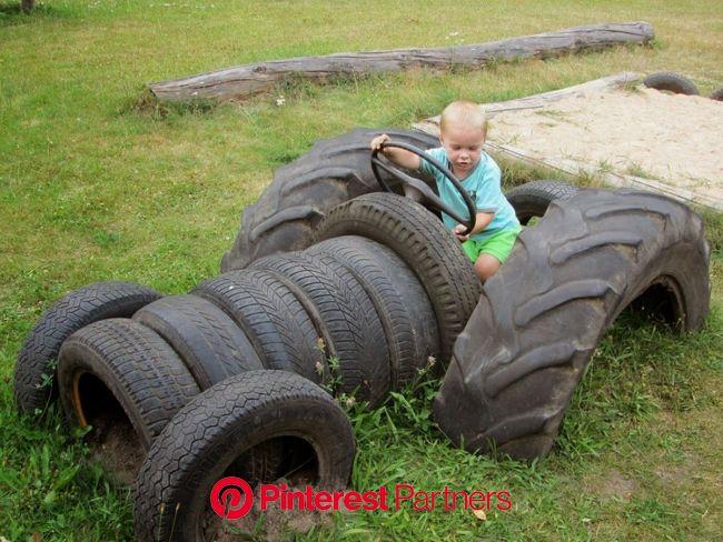 MENTŐÖTLET - kreáció, újrahasznosítás: Gumiabroncsból: TRAKTOR | Tire playground, Kids playground, Tire craft
