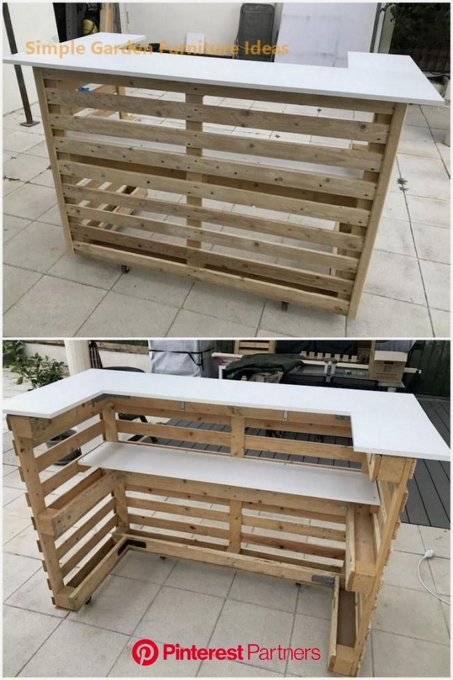 Most Affordable and Simple Garden Furniture Ideas  #furniture in 2020 (With images) | Pallet decor, Pallet bar diy, Wood pallet furniture
