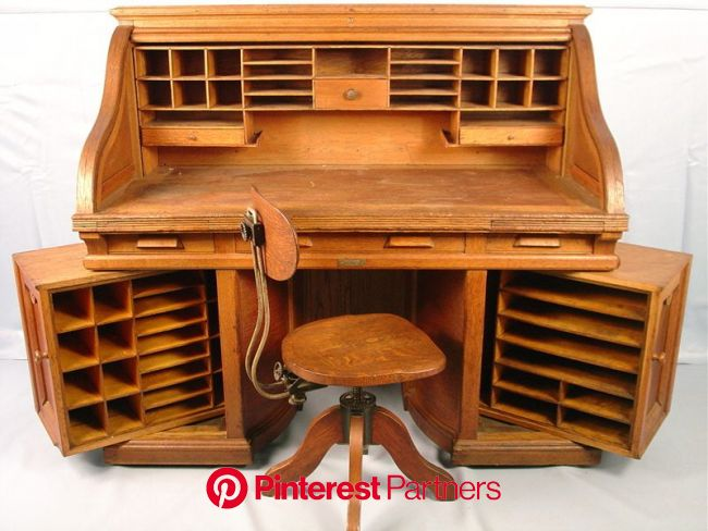 Another Old-School Wooton Design for Efficient Office Furniture: The Rotary Desk - Core77   Wood diy, Wood, Woodworking
