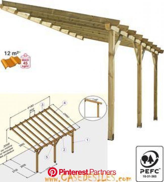 Abri de terrasse bois 12mc ABT4230 classe 4 à Prix Choc   Pergola with roof, Outdoor pergola, Wooden terrace