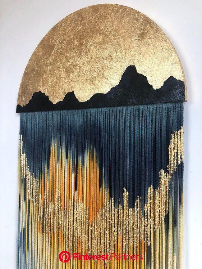 Wall macrame hanging decor art  yarn wall hanging textile | Etsy in 2021 | Yarn wall hanging, Macrame wall art, Yarn wall art