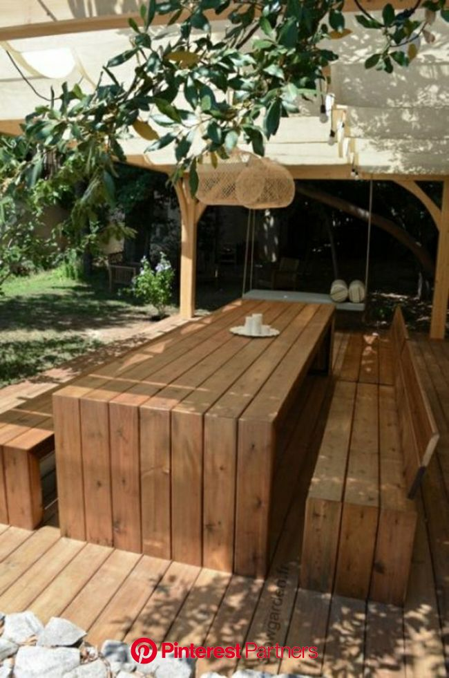 La table de pique nique qui va vous inspirer! | Outdoor furniture style, Diy patio table, Teak outdoor furniture