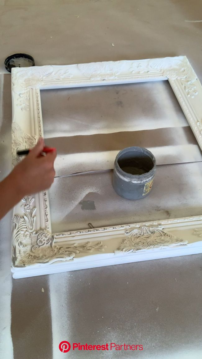 It S A Slow Detailed Process To Create Our Shabby Chic Bathroom Mirrors This One Is Hand Painted Video Shabby Chic Bathroom Shabby Chic Room Wood Decor 2019 2020