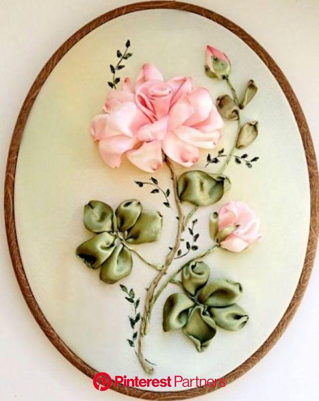 Ribbon Embroidery | Silk ribbon embroidery tutorial, Silk ribbon embroidery patterns, Silk ribbon embroidery