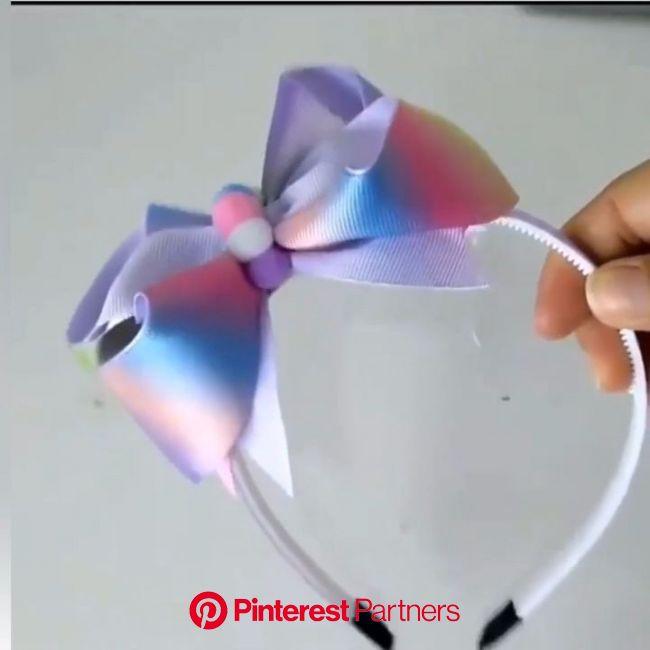 13 inspirações de laços e flores de cetim com passo a passo [Video] | Diy hair bows, Diy hair accessories, Making hair bows