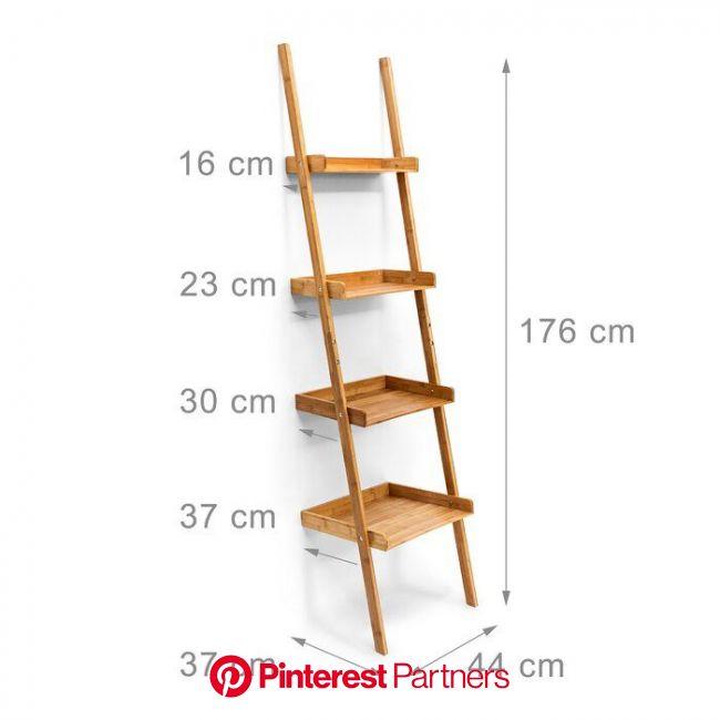 Arneson 176Cm H x 44Cm W Wood Ladder Bookcase | Ladder shelf decor, Bookcase, Diy furniture