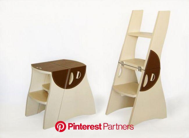 Foto Banco Escada TATU Couro - Botão Trava | Ferramentas de madeira, Moveis, Escadas de madeira