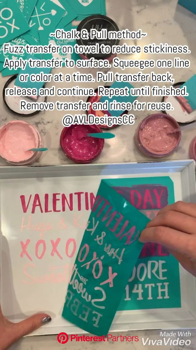 """""""Chalk and Pull"""" method with Chalk Couture [Video] in 2020   Chalk, Valentines diy, Craft tutorial"""
