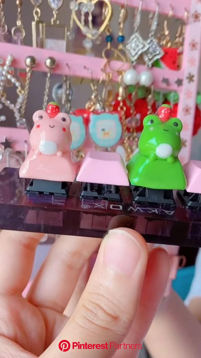Strawberry Froggo Keycaps Tutorial | Pinterest