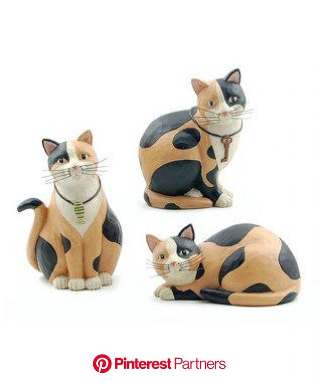 Calico cat figurines designed by Robin Davis | Cat art, Calico cat, Cat theme