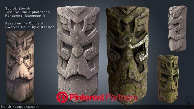Dwarven Statue, Hendrik Coppens | Game concept art, Fantasy statue, Statue