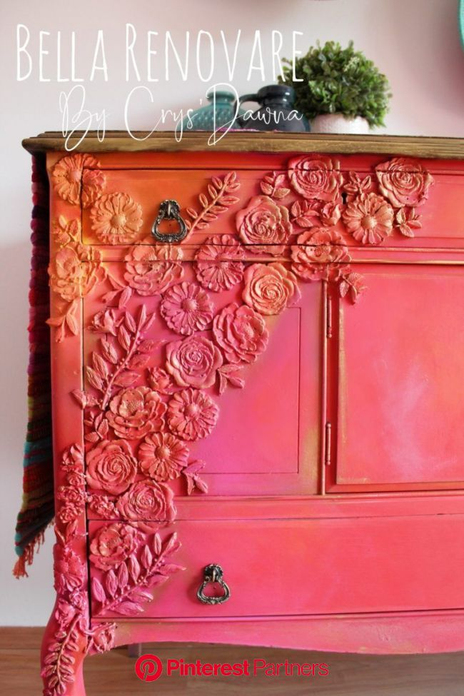 How To Blend Bright Colors Painted Furniture Diy Paint Wood Decor 2019 2020