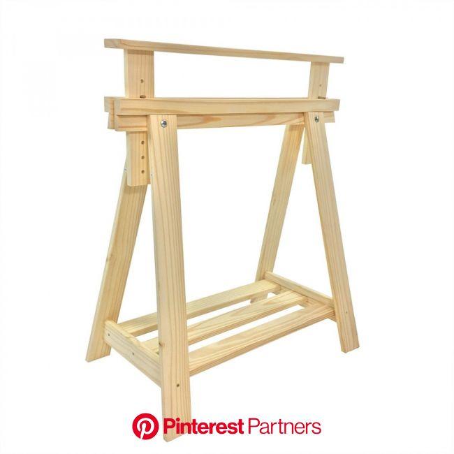 Cavalete com regulagem de altura, UAU! =)   O Cavalete Studio é super cool! É super design! É super especial para criar … | Cavalete de madeira, Caval