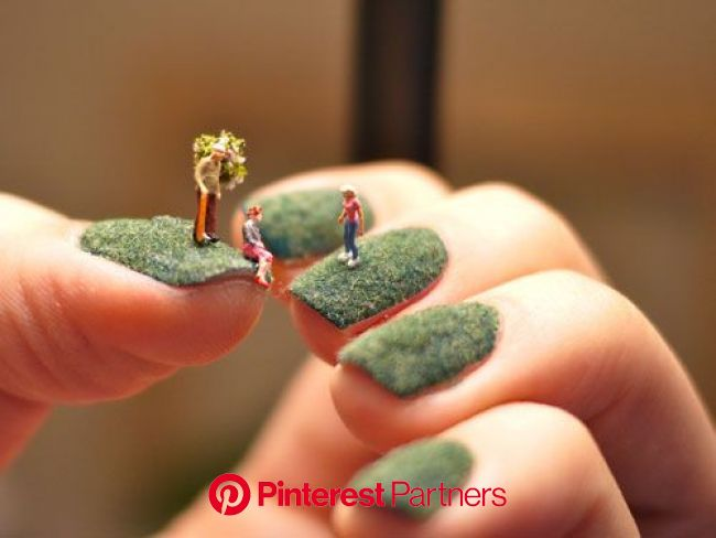 Tiny Art at Your Fingertips: Nail Landscapes by Alice Bartlett | Crazy nail designs, Cool nail art, Cool nail designs
