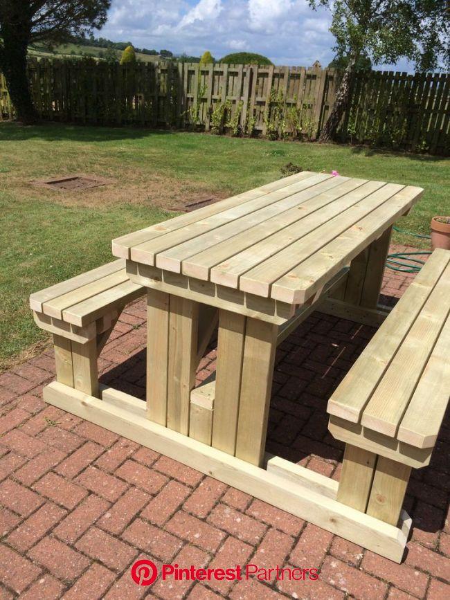 Heavy duty wooden walkin garden/pub picnic table in 2019 Picnic Table Picnic table, Wooden in 2020 | Wooden picnic tables, Diy picnic table, Wooden ga