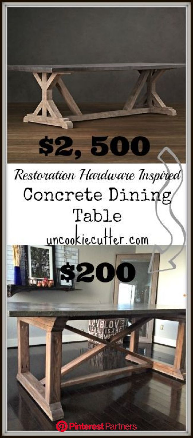 Concrete Dining Table Diy For Less Top Wood Decor 2019 2020