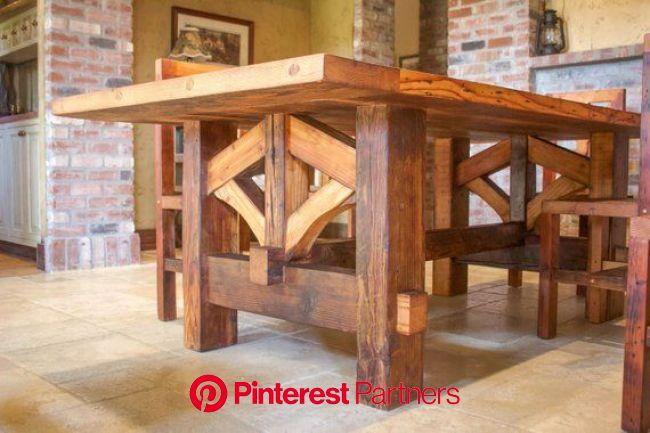 Farmhouse Table Hand Made with Reclaimed Douglas Fir Barn Wood   Farmhouse dining table, Farmhouse table plans, Farmhouse table