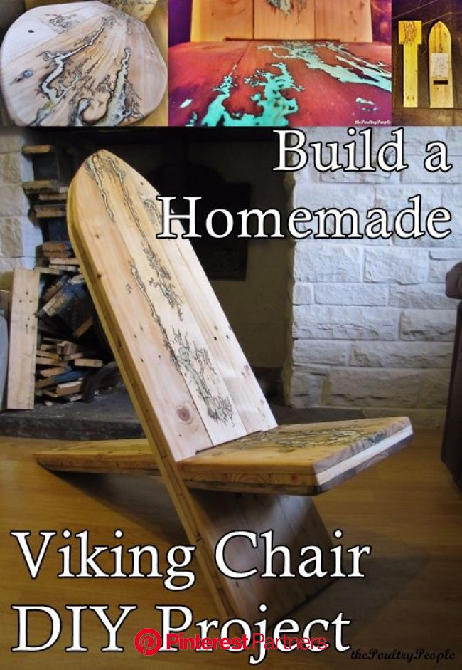 Build a Homemade Viking Chair DIY Project | Diy chair, Easy woodworking projects, Wood diy