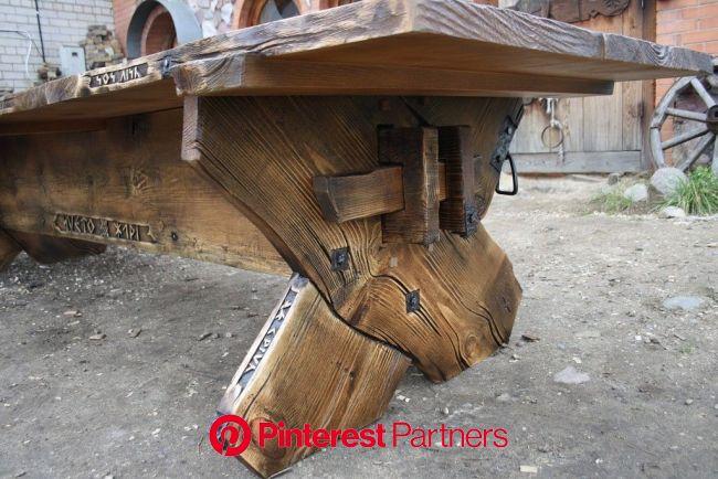 Пин от пользователя Vita Igumenova на доске Ковка и декор   Стол в деревенском стиле, Стол, Мебель из из термообработанной древесины