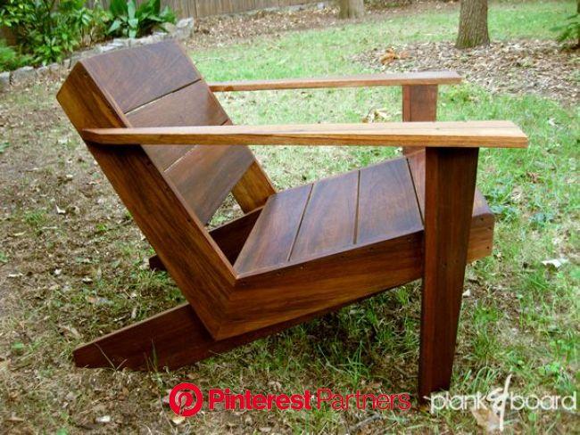Pin by Daniel Carfora on The Modernist Garden | Diy garden furniture, Modern adirondack chair, Pallet furniture outdoor