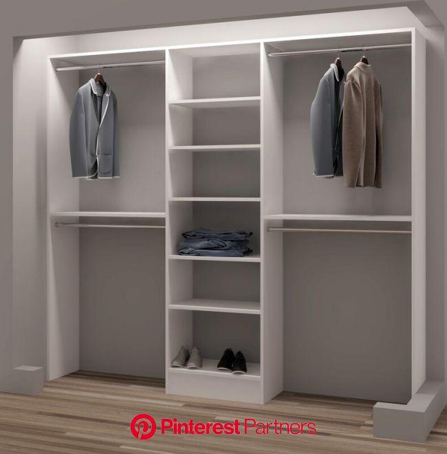 """Rebrilliant Belle 93"""" W Closet System   Wayfair   Diseño de armario, Closet de madera sencillos, Diseño de armario para dormitorio"""