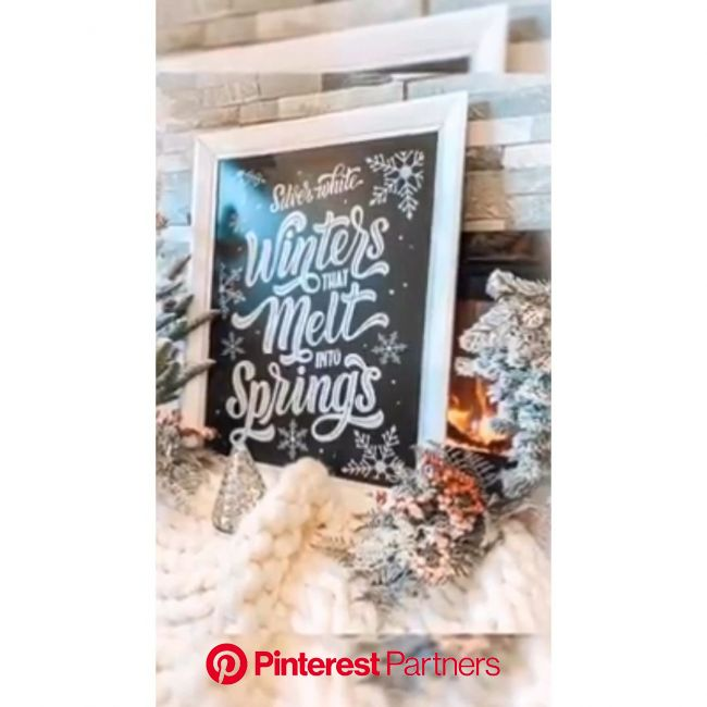 Chalk couture | Winter | Hoildays | Home Decor | DIY | Crafts | signs | Christmas [Video] | Crafts, Diy crafts, Christmas crafts