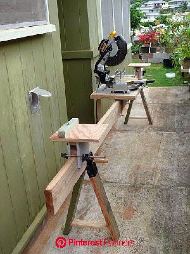 How to Make a Miter Saw Table | Ferramentas para trabalhar madeira, Suportes para marcenaria, Serra esquadria