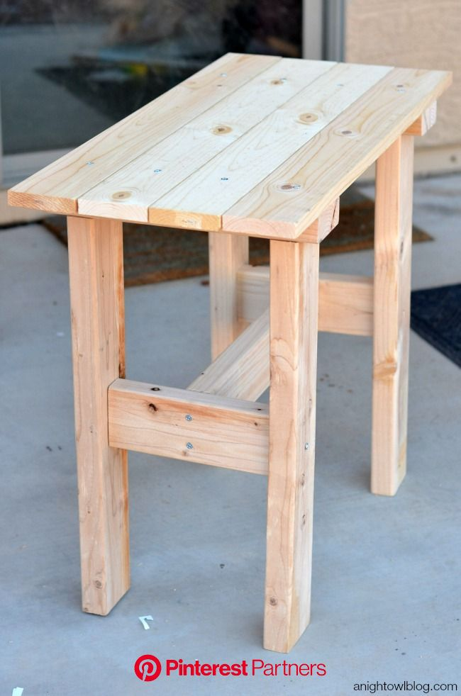 DIY Porch Table | anightowlblog.com | Wood table diy, Diy kitchen table, Outdoor wood projects