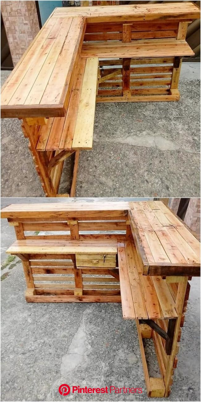 Interesting Ideas of Old Wood Pallet Recycling (With images) | Wood pallet recycling, Pallet bar diy, Wood pallet bar