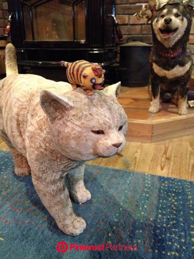 はしもとみお (@hashimotomio) | 動物の彫刻, キュートなアート, 木彫りアート