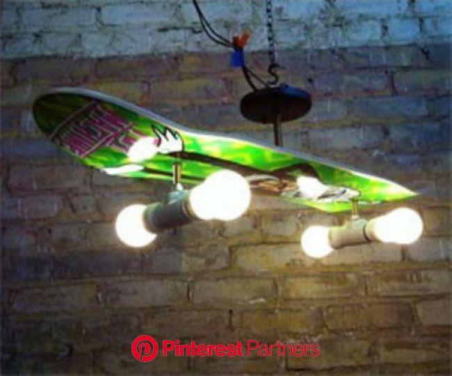 Skateboard Lamp | Diy home decor projects, Skateboard light, Deck lamps