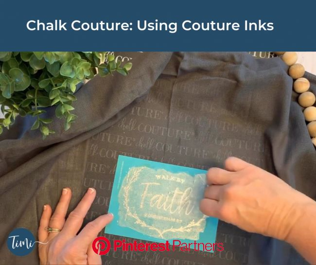 Chalk Couture: Become a designer [Video] | Chalkboard crafts, Chalk crafts, Diy stencil patterns