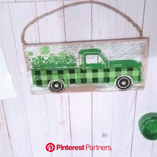 Chalk Couture St Patrick's Day Vintage Truck [Video] | Chalk crafts, Truck crafts, Saint patricks day art