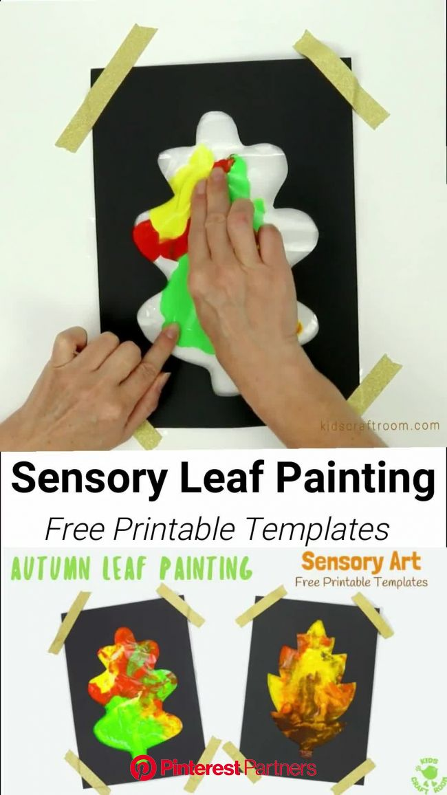 Mess Free Sensory Autumn Leaf Painting [Video] | Fall crafts for kids, Preschool crafts, Fall crafts