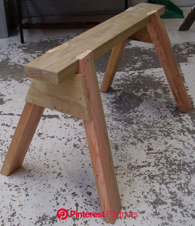 How to build a Sawhorse | BuildEazy | Woodworking projects diy, Diy woodworking, Carpentry projects