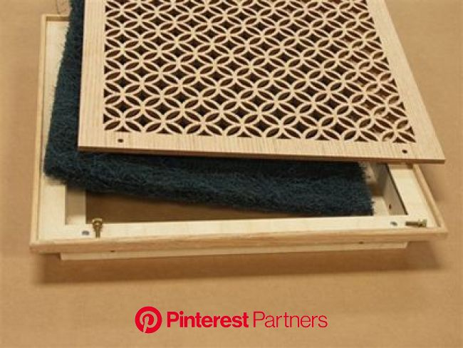 Wood Filter Grille Assembly | Decorative vent cover, Air return, Vent covers diy