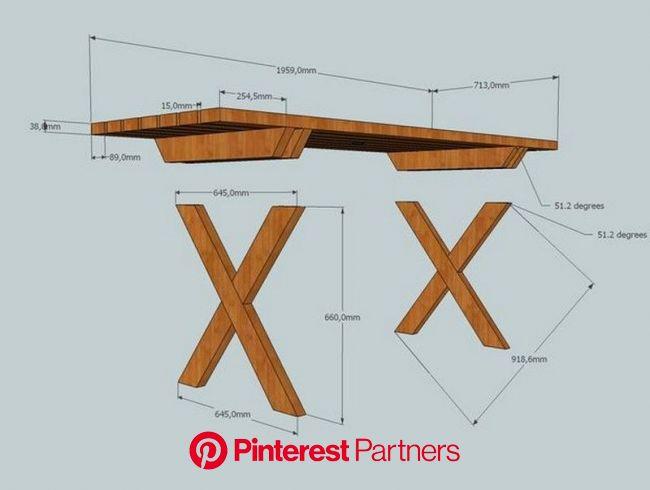 Do-It-Yourself Picnic Table Tutorial | Pé de mesa, Mesa madeira, Mesa grande