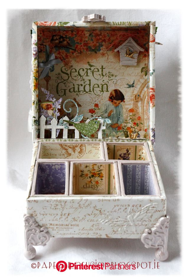 Paper Profusion: Unplug and Go Outside | Decoupage box, Cigar box crafts, Cigar box art