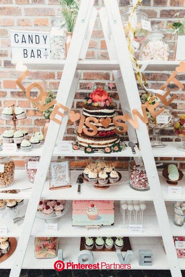 20 Delightful Wedding Dessert Display and Table Ideas to Love - EmmaLovesWeddings | Dessert display wedding, Wedding dessert table, Dessert bar weddin
