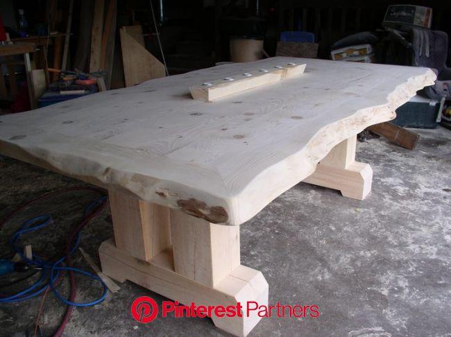 Doherty-Kiefernernte, #doherty #kiefernernte | Holztisch design, Holzblockmöbel, Diy holztisch