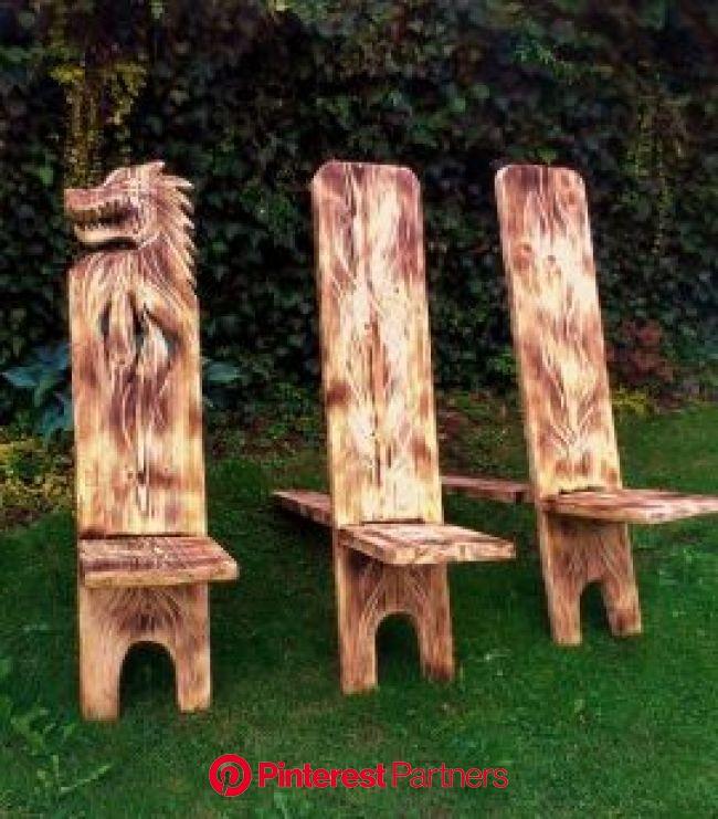 Hildegard Diemer - Skulpturen | Wikinger möbel, Holzprojekte diy, Holzstühle