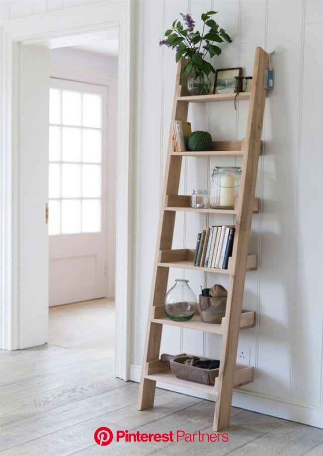 Oak Shelf Ladder - Small | Ladder shelf decor, Oak shelves, Shelves